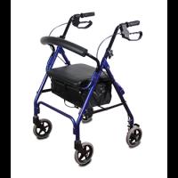 רולטור אלומיניום 4 גלגלים עם מושב ותיק