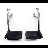 זוג רגליות לכ/ר ושירותים נירוסטה כולל ברגי נירוסטה